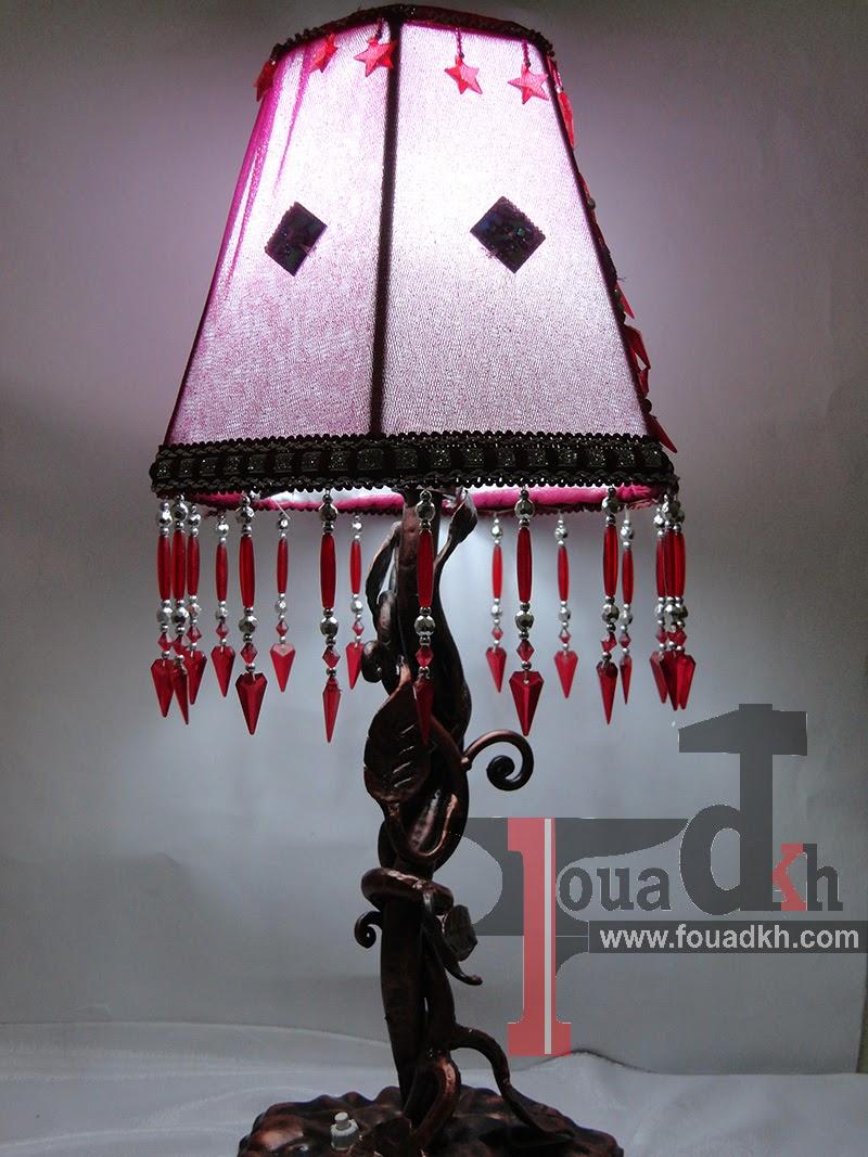 بالفيديو طريقة  صنع مصباح السرير من Fer forgé لغرفة النوم
