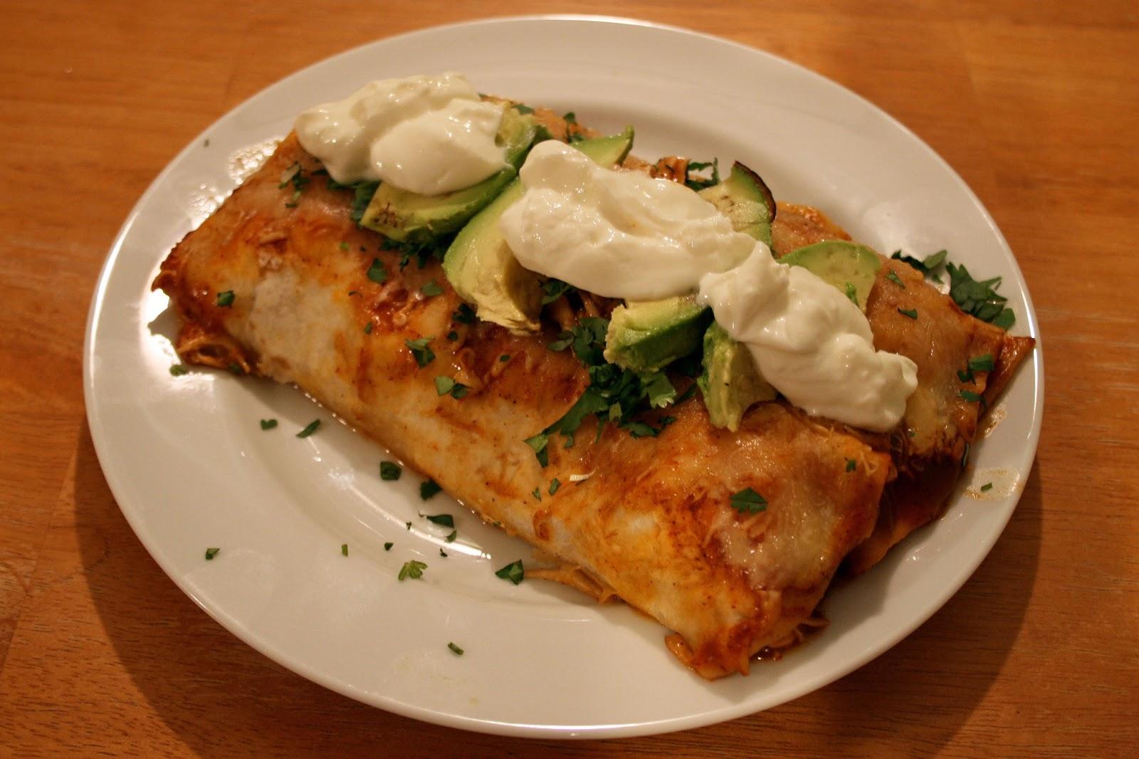 one clever mom: Easy Chicken Enchiladas
