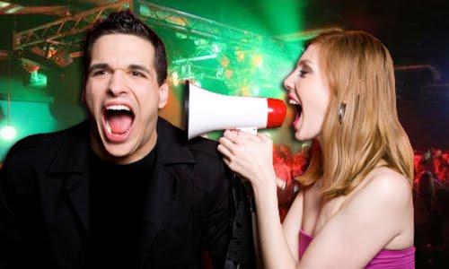 clubbing shouting