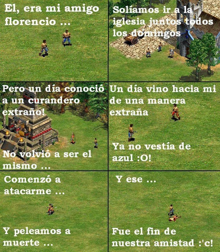 viñeta de humor del  'Age of Empires': Una triste historia