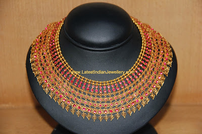 Kerala Bridal Ruby Necklace