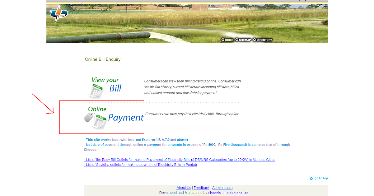 Electricity Bill Punjab Payment Online
