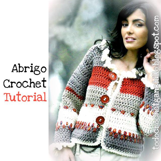 Saco de mujer tejido al crochet paso a paso
