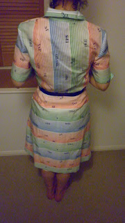 funky vintage polyester elbise