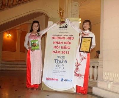 Công ty TNHH nông lâm sản Tiên Phước đạt thương hiểu nổi tiếng của năm