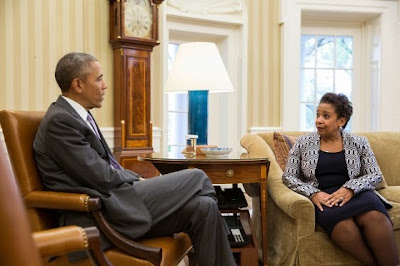 President Barack Obama and Attorney General Loretta E. Lynch
