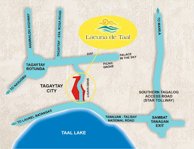 Laeuna De Taal Location Map, Condominium for sale in Tagaytay, Filinvest