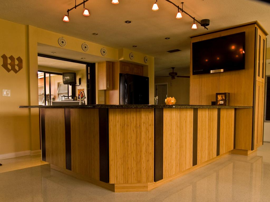 Bamboo lamp photo bamboo kitchen cabinets for Bamboo kitchen cabinets