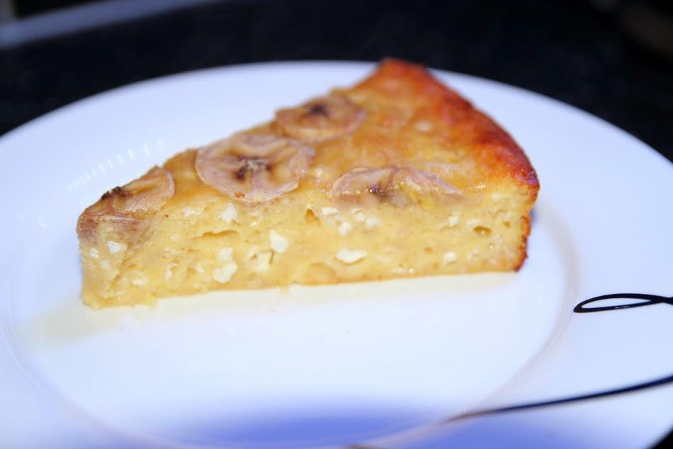 Пирог с творогом и бананами рецепт с пошагово