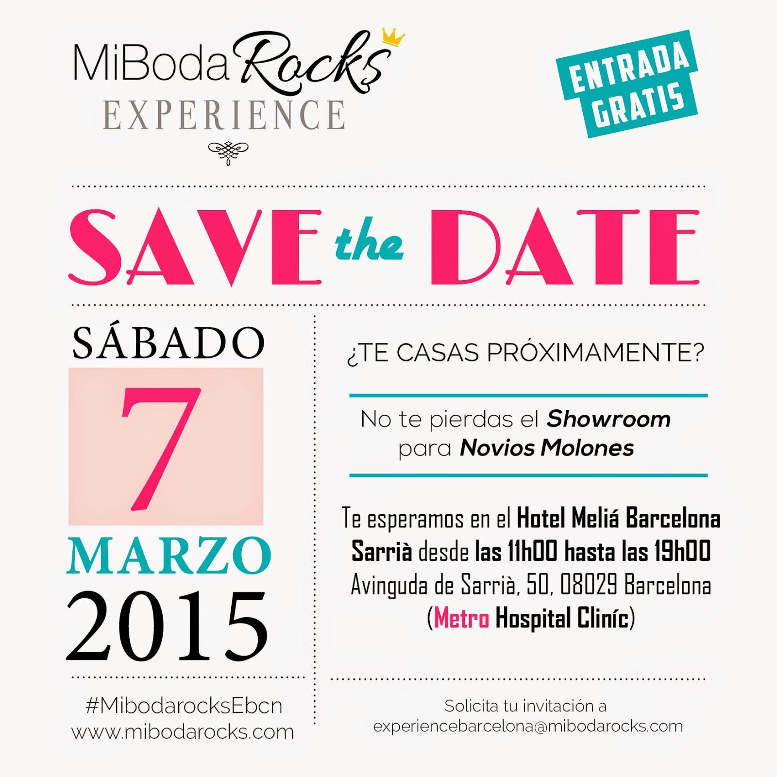 7 de marzo 2015 Mi Boda Rocks Experience Barcelona