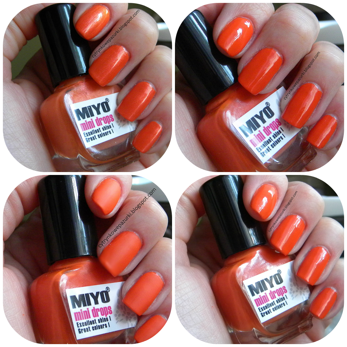 Poniedziałki z Miyo Mini Drops Pure Orange 163 i Crystal&Peach 164