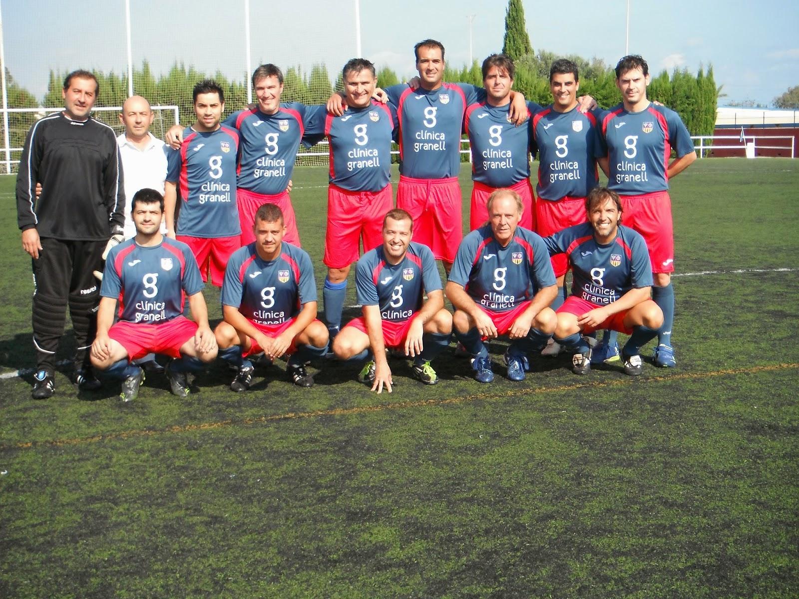 Veteranos futbol salesianos-Clinica Granell fisioterapeuta castellon