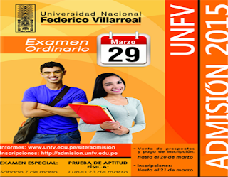 Ingresantes examen UNFV 2015 Examen Universidad Nacional Federico Villarreal 29 de Marzo