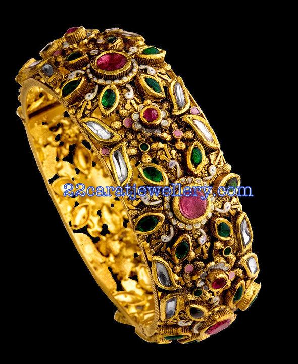 Gold Designer Bangle from TBZ Jewellery Jewellery Designs