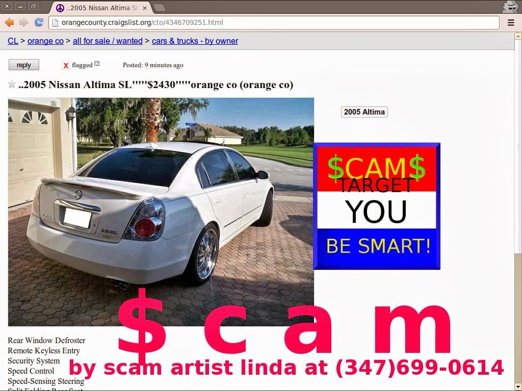 Http orangecounty craigslist org cto 4346709251 html 2005 nissan altima sl 2430 orange co orange co by scammer linda 347 699 0614
