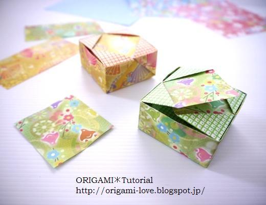 折り 折り紙 折り紙 箱 ふた : origami-love.blogspot.com