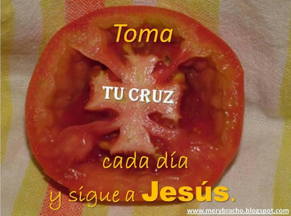 postal cristiana sigue a Cristo Sigue a Jesús