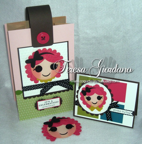 Lalaloopsy Invitation and Goody-bag. Another project with Punch Art