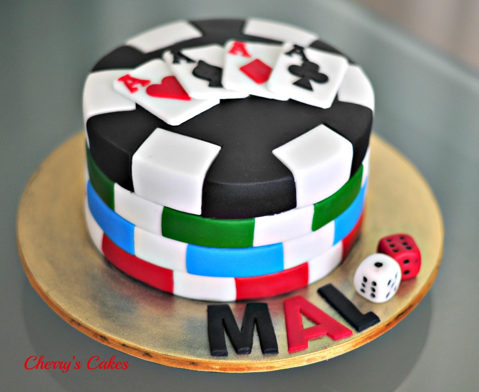 Casino Chip Birthday Cake