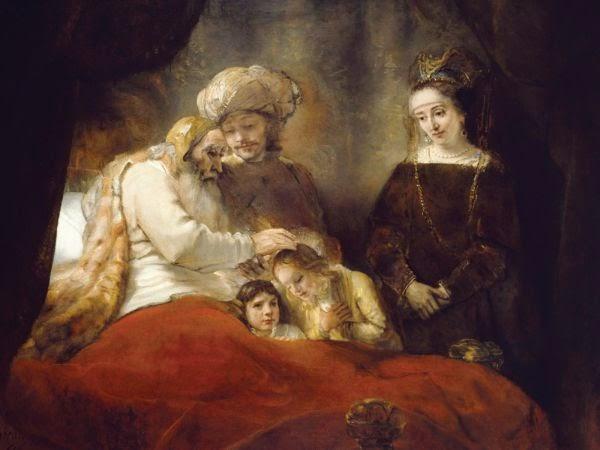 Jacob bénissant les fils de Joseph de Rembrandt, 1656