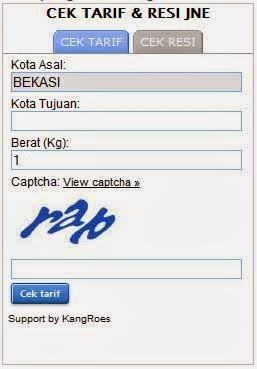 Widget Cek Resi TIKI JNE dan Pos Indonesia   Jasa