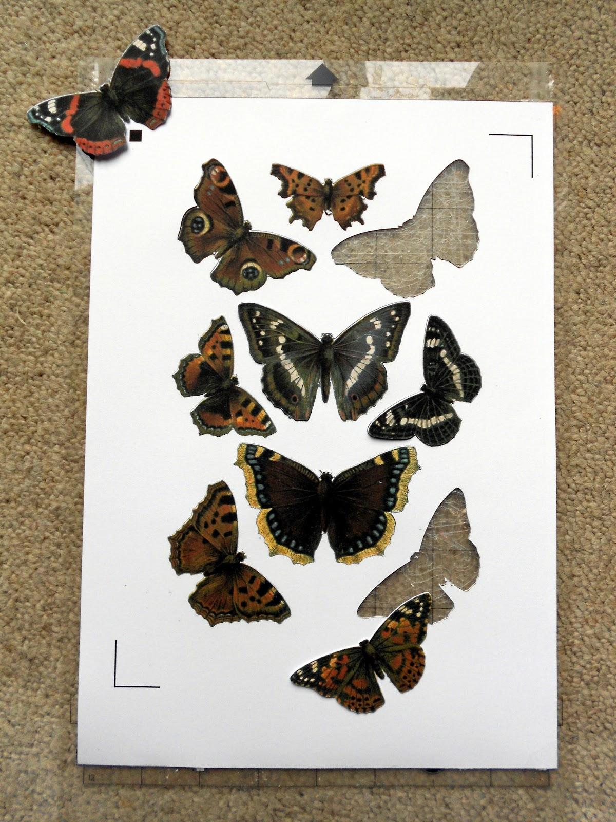 Vintagesavonette: Schmetterlinge im Bauch - Butterfly Wreath (Tutorial)