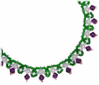 Free bead patterns and ideas simple sparkle necklace for Simple beaded jewelry patterns