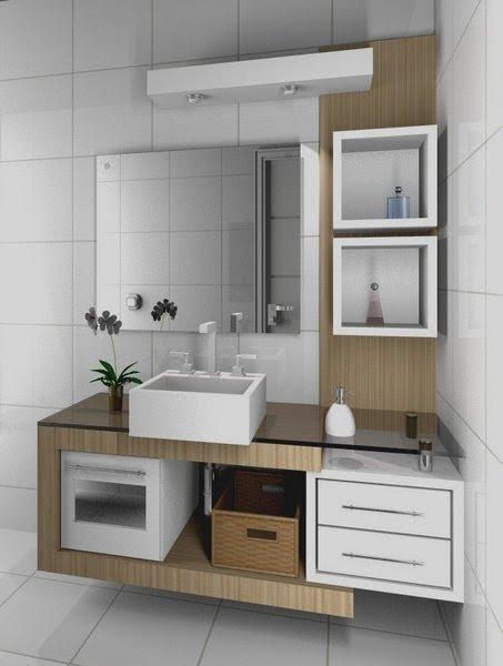 Construindo minha casa clean banheiros e lavabos for Armarios para lavabos