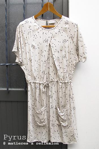 Soldes robe beige imprimée Pyrus London