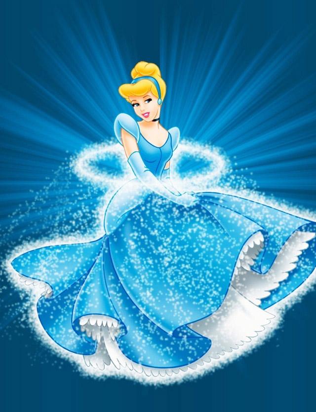 Walt Disney Princess Cinderella Character With Blue Dress 7