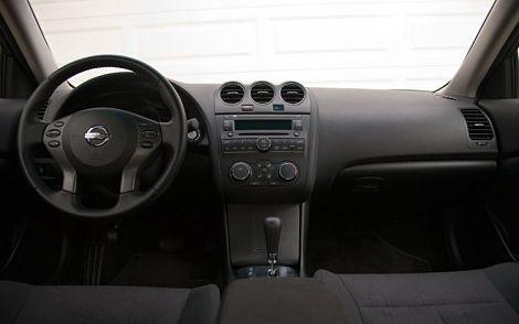 Interior shot of 2011 Nissan Altima