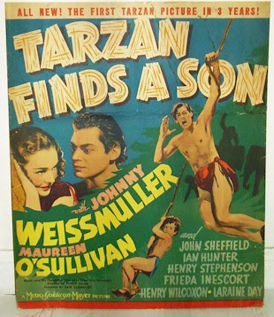 Mr Weissmuller will scream if you push at his poster.