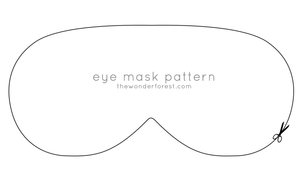 Quick amp Easy Minky Eye Mask Cavern Of Craftiness