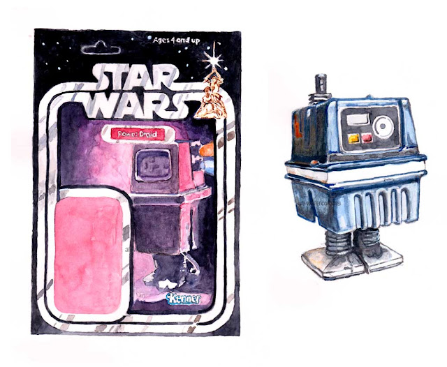 Power Droid card-back and toy illustration