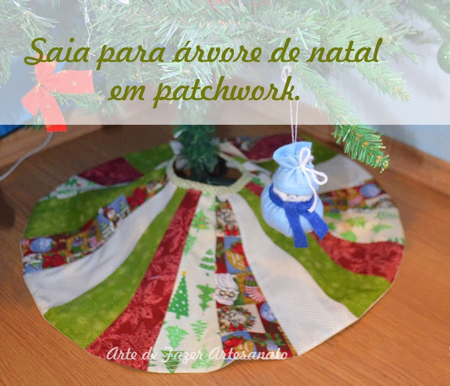 Aprenda a fazer esta saia para árvore de natal em Patchwork
