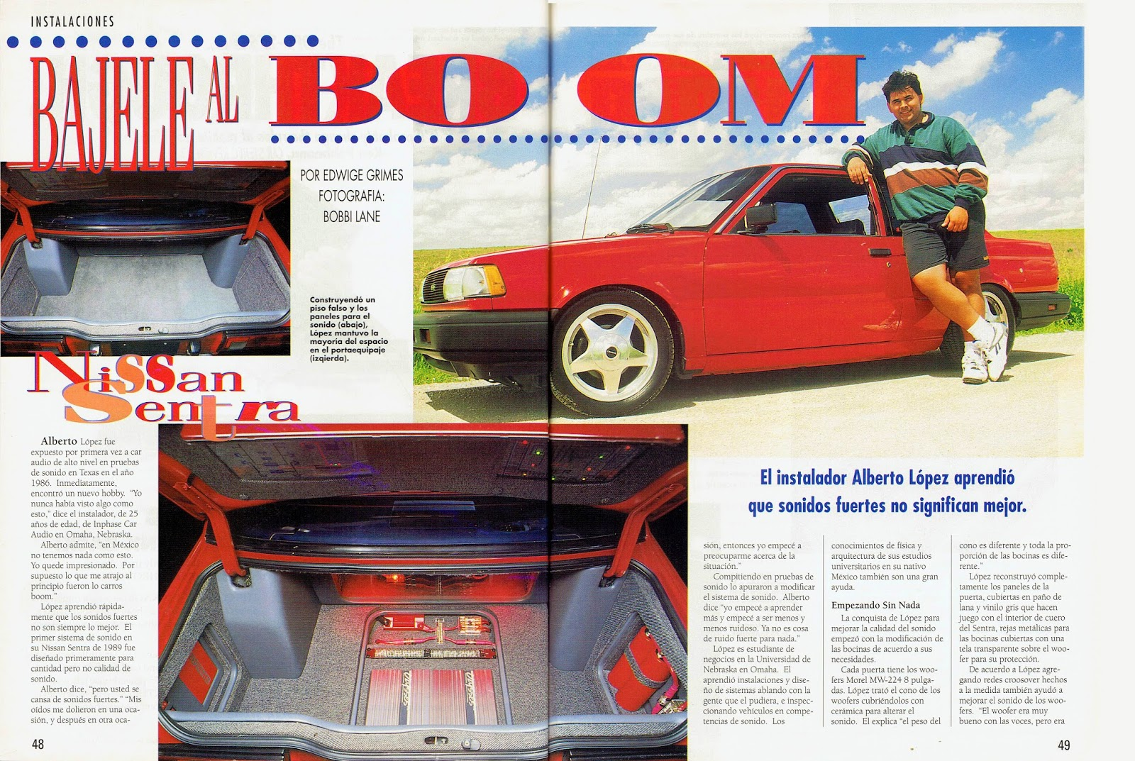 Image of Bajale al Boom Article - pages 48 and 49 - Car Audio & Electronics Magazine Special Edition in Spanish