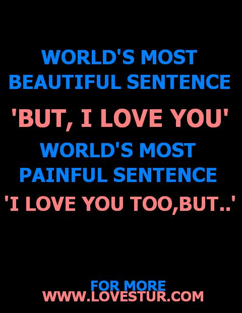 1 Sentence Quotes About Love : Worlds Most Beautiful Sentence .. ( Sad Love Quote ) Lovestur