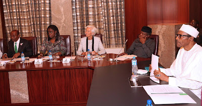 IMF boss, Christine Lagarde and Nigeria's Economic team