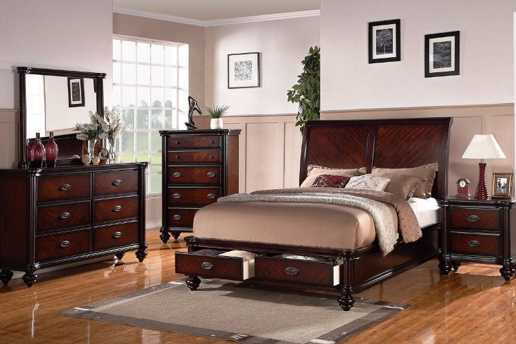 Dark Cherry Wood Bedroom Furniture Sets Excellent Design Ideas Decorative  Plants Beautiful Table Lamp And Mirror Best Neutral Wall Painting Color  Exotic ...