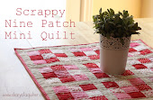 Scrappy Nine Patch mini-quilt