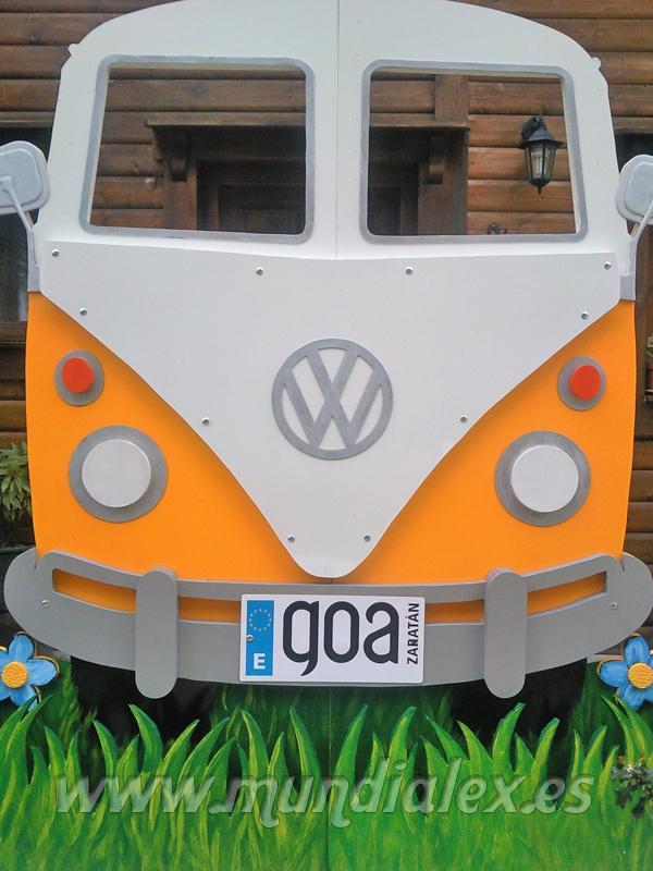Mundialex Bricolaje Y Decoracion Furgoneta Volkswagen La Furgo - Decoracion-hippie-fiesta