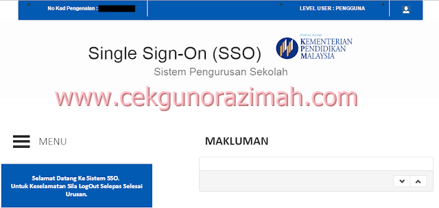 single sign on, sso, sistem pengurusan sekolah
