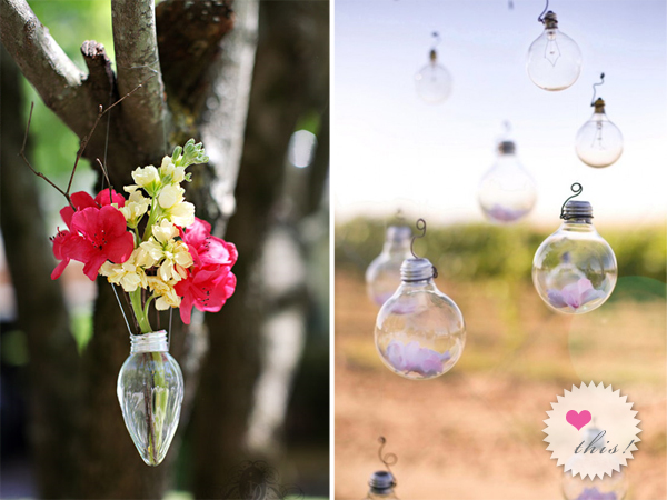 Light Bulb Wedding Decoration