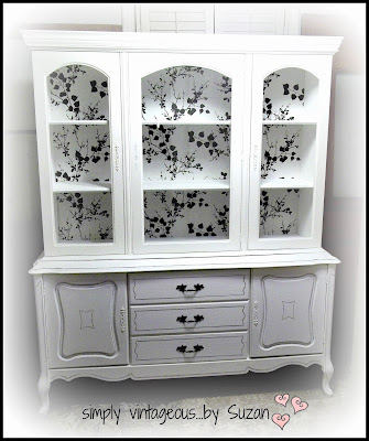 Hutch makeover, Annie Sloan Chalk paint, Pure White