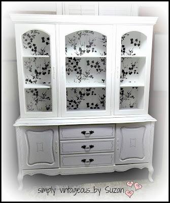 Hutch makeover, Annie Sloan Chalk paint, Pure White
