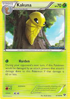 Kakuna Pokemon X and Y Card