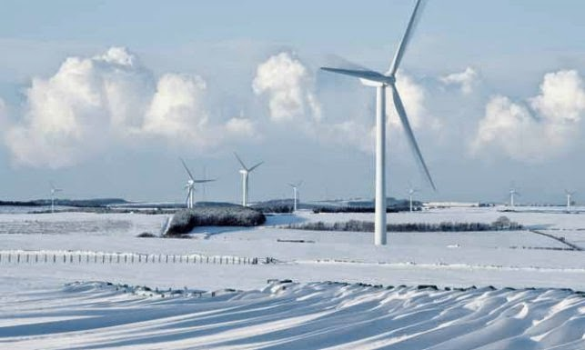 Windpark in Finnland