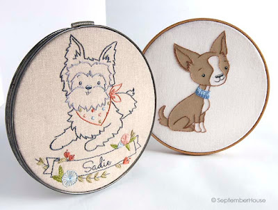 Hand Embroidery Patterns Chihuahua and Yorkshire Terrier
