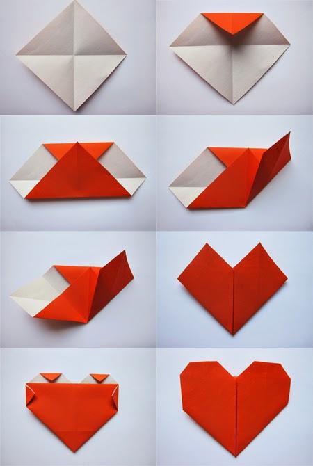 easy origami heart for kids art stock images