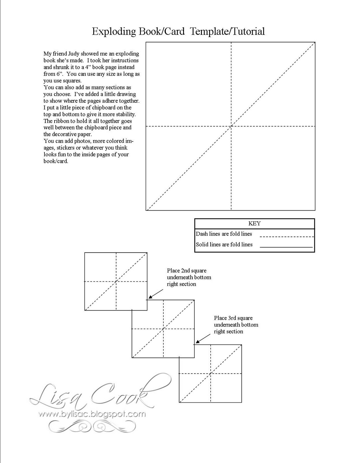 Pizza Box Template http://bylisac.blogspot.com/p/exploding-bookcard-templatetutorial.html